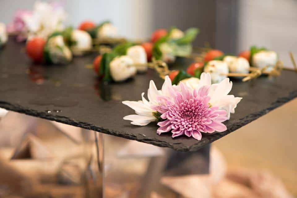 caprese skewers - wedding snacks