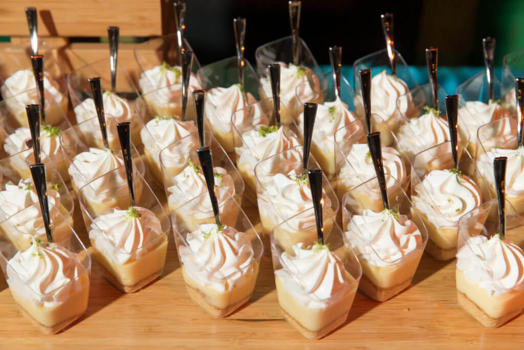 key lime pie shooters dessert catering