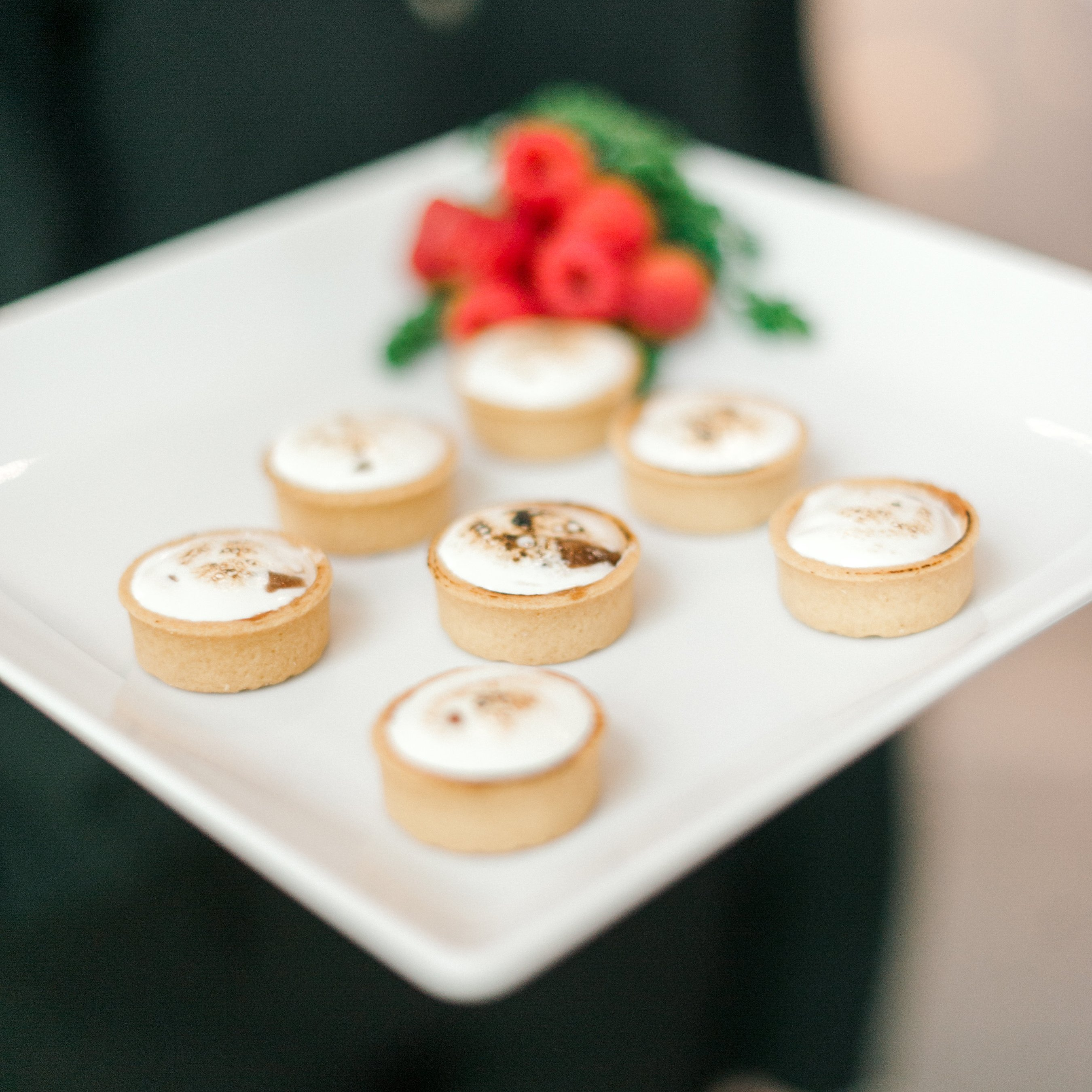 s'more tartlet fine dining catering